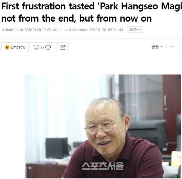 """Báo Hàn Quốc: """"Ma thuật của thầy Park chưa kết thúc"""" - 1"""