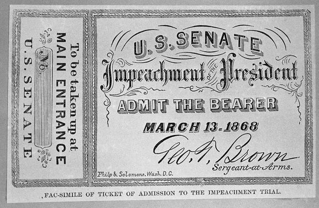 Xem luận tội tổng thống: Tấm vé từng được săn lùng nhất nước Mỹ - 1