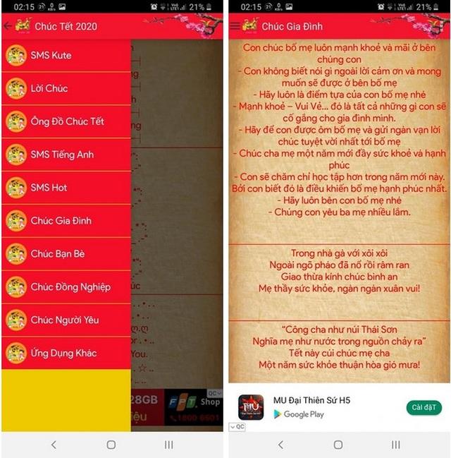 Những ứng dụng hữu ích nên có trên smartphone để đón Tết Nguyên Đán - 2
