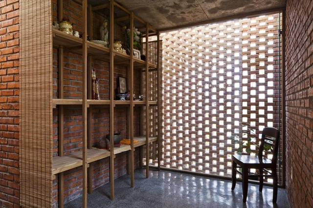 Nhà tổ mối làm bằng gạch nung nửa kín, nửa hở đẹp hiếm có ở Đà Nẵng - 3