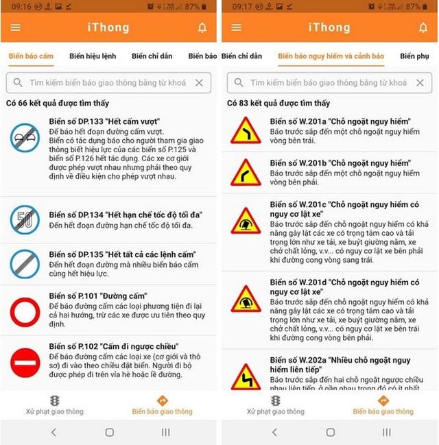 Ứng dụng hữu ích giúp tra cứu các mức xử phạt vi phạm giao thông theo Nghị định 100 - 4