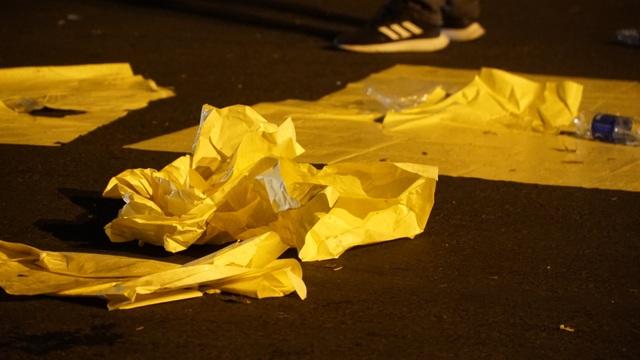 Phố đi bộ Nguyễn Huệ đầy rác sau đêm giao thừa - 8