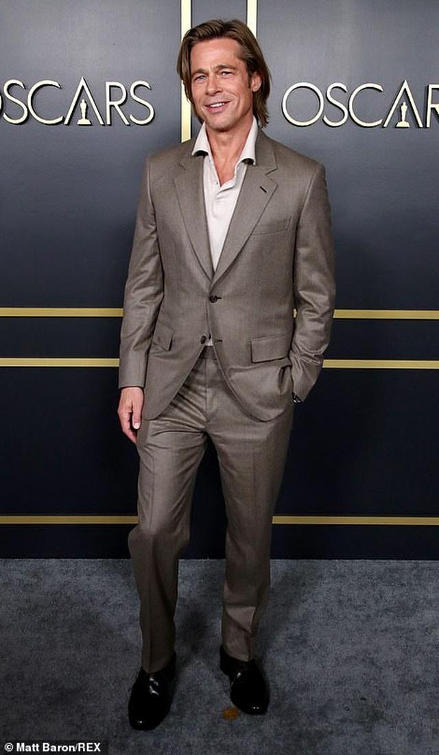 Brad Pitt lịch lãm dự tiệc Oscar - 4
