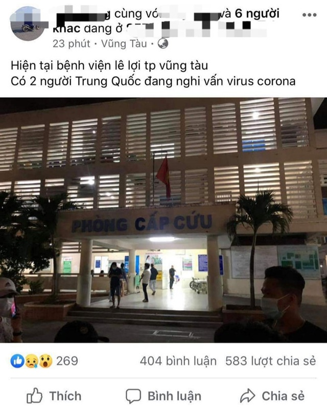 cong an lam viec voi facebooker hoang tin ve virus corona tai vung tau