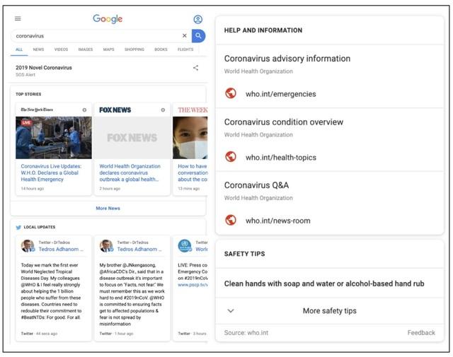 Google kích hoạt tính năng đặc biệt với các tìm kiếm về virus corona - 1