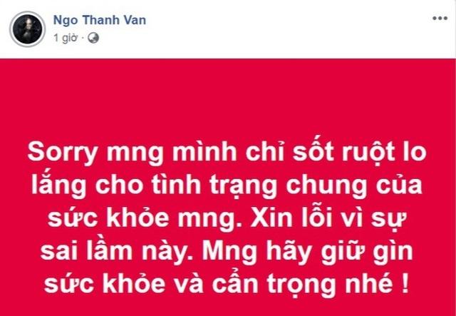 Ngô Thanh Vân lên tiếng xin lỗi sau vụ đưa tin sai liên quan đến đại dịch corona - 2