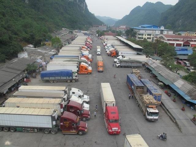 Hàng trăm xe thanh long tắc đường sang Trung Quốc vì virus corona - 1