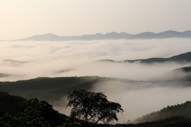 Mây giăng kín như bồng lai tiên cảnh trên đỉnh Giăng Màn - 3