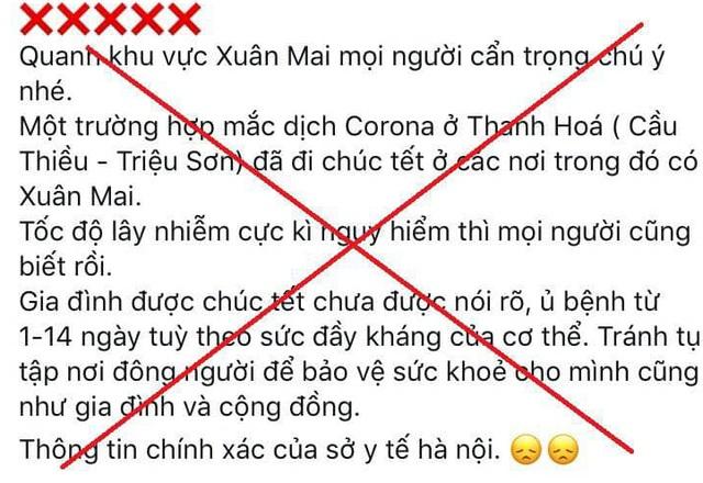 Tung tin sai về dịch corona, nam thanh niên Hà Nội bị phạt 10 triệu đồng - 1