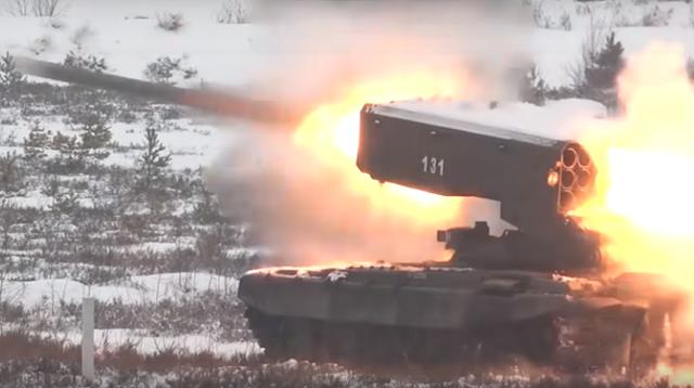 """Video hiếm siêu pháo Nga """"phun lửa"""" uy lực - 1"""