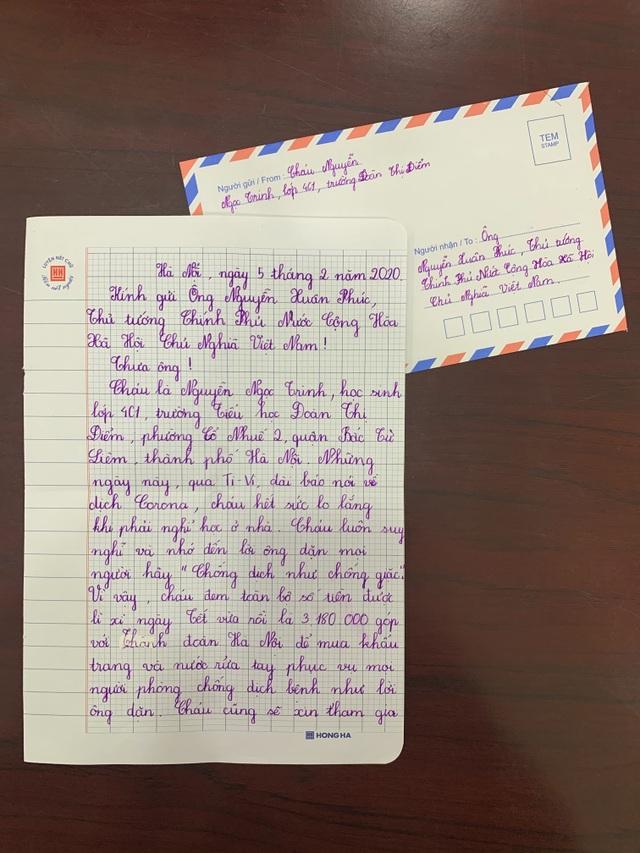 Bé gái Hà Nội quyên góp tiền, viết thư gửi Thủ tướng về chống dịch corona - 3