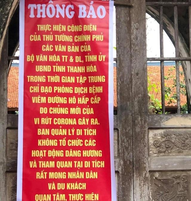 Thanh Hóa: Không tổ chức lễ khai ấn, phát ấn Đền Trần - 3