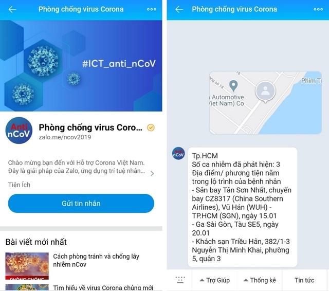 Ra mắt chatbot về nCoV trên Zalo, kiểm tra lây nhiễm theo địa phương - 2
