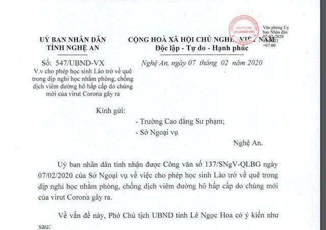 Nghệ An: Hơn 800 lưu học sinh nước ngoài nghỉ học về nước tránh dịch Corona - 1