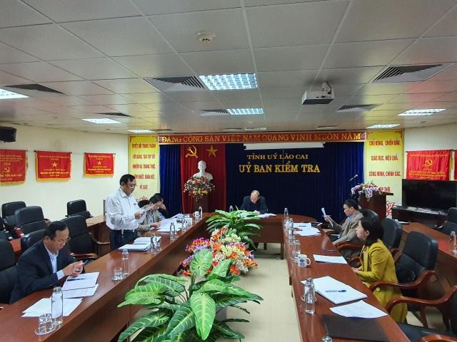 Xem xét thi hành kỷ luật Chánh Thanh tra thành phố Lào Cai - 1