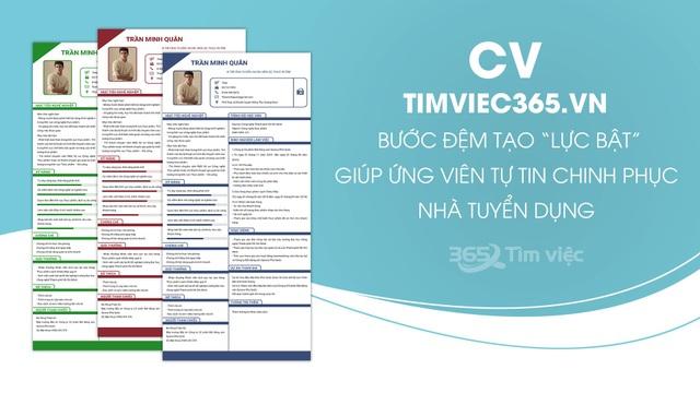 """Timviec365.vn - nơi """"ươm mầm"""" giấc mơ việc làm trong CV xin việc chuyên nghiệp - 2"""