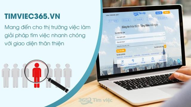 """Timviec365.vn - nơi """"ươm mầm"""" giấc mơ việc làm trong CV xin việc chuyên nghiệp - 4"""