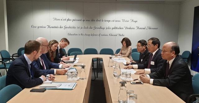 Thứ trưởng Ngoại giao Bùi Thanh Sơn làm việc tại Nghị viện châu Âu - 2