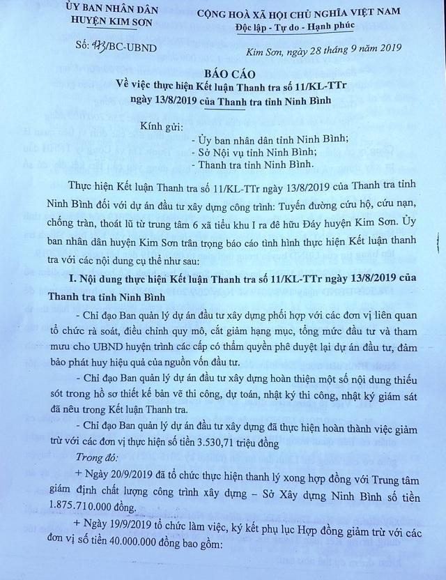 """Huyện Kim Sơn """"dính"""" hàng loạt sai phạm tại dự án 992 tỷ đồng - 3"""