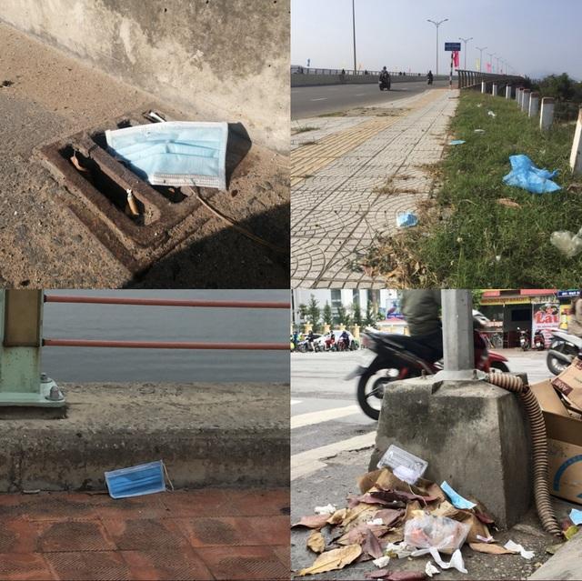 Khẩu trang y tế vương vãi khắp nơi trên đường phố Đà Nẵng - 1