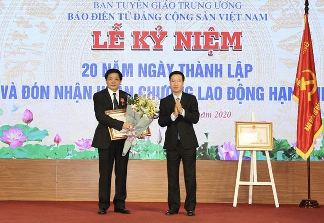 Báo điện tử Đảng Cộng sản Việt Nam đón nhận Huân chương Lao động hạng Nhì - 2