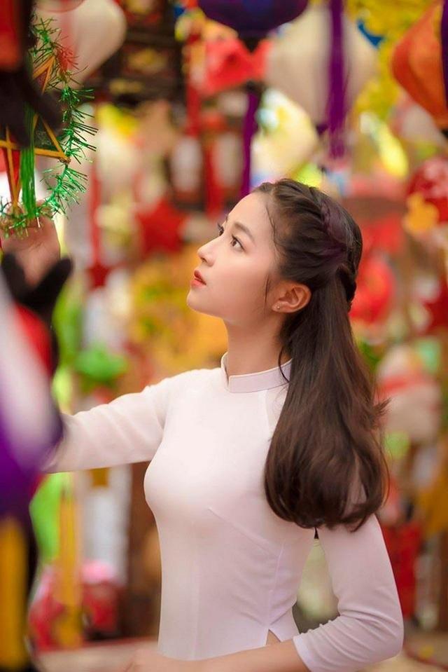 """Nữ sinh Hà thành """"gieo thương nhớ"""" với góc nghiêng xinh đẹp - 4"""