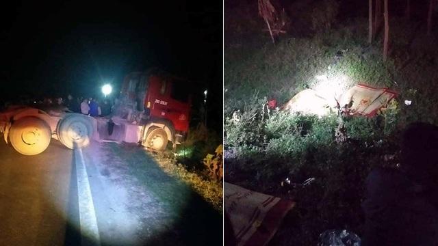 Hà Nội: Va chạm với xe đầu kéo, 3 người trong gia đình tử vong - 1