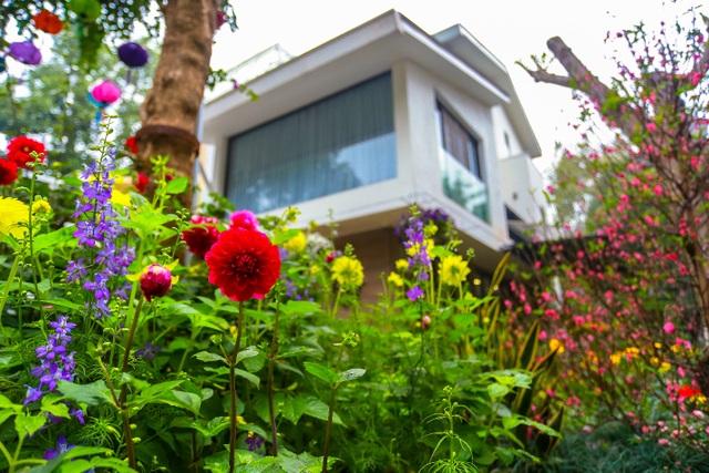 Cặp vợ chồng trẻ ở Hưng Yên bỏ phố, về quê làm biệt thự vườn đẹp hiếm có - 9