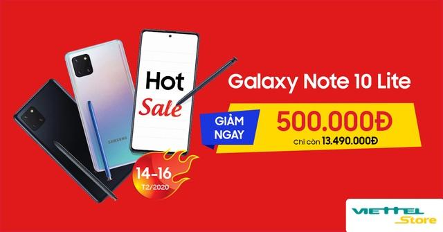 Giảm ngay 500.000 đồng khi mua Samsung Galaxy Note 10 Lite tại Viettel Store - 5