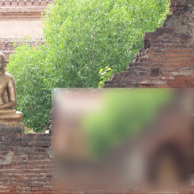 Sôi sục vì clip nóng quay tại khu di tích Phật giáo - 1