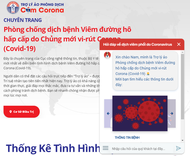 Bộ Y tế ra mắt trợ lý ảo cung cấp kiến thức, hỏi đáp về virus Covid-19 - 1