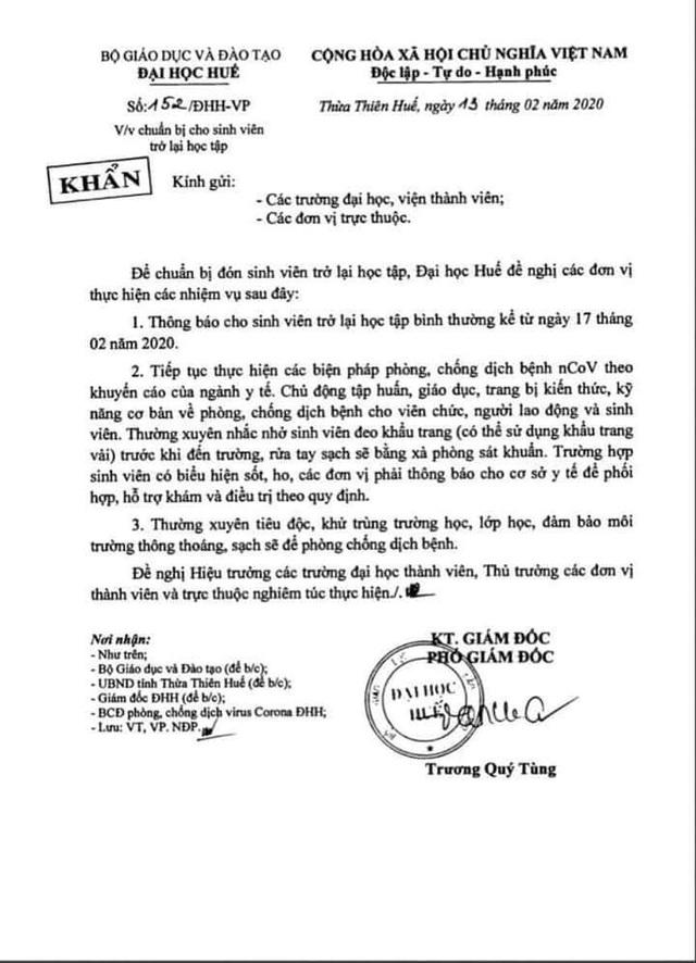 Thừa Thiên Huế: HS nghỉ tiếp đến hết tháng 2, SV nghỉ đến hết 23/2 - 4