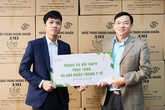 Mạng xã hội Gapo trao tặng 80.000 khẩu trang y tế - 1