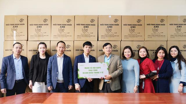 Mạng xã hội Gapo trao tặng 80.000 khẩu trang y tế - 2