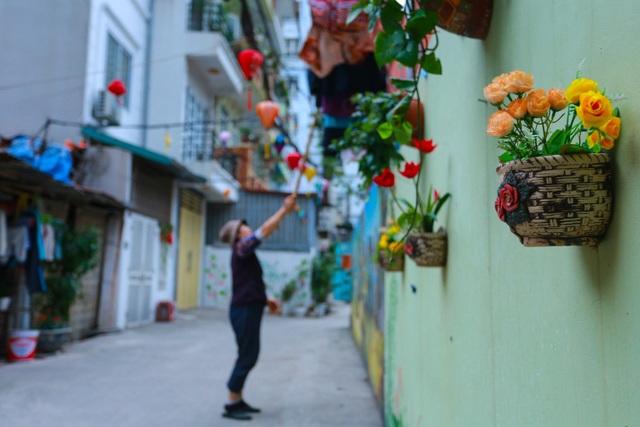 Bất ngờ ngõ hoa dạ yến thảo đẹp mê mẩn giữa lòng Hà Nội - 15