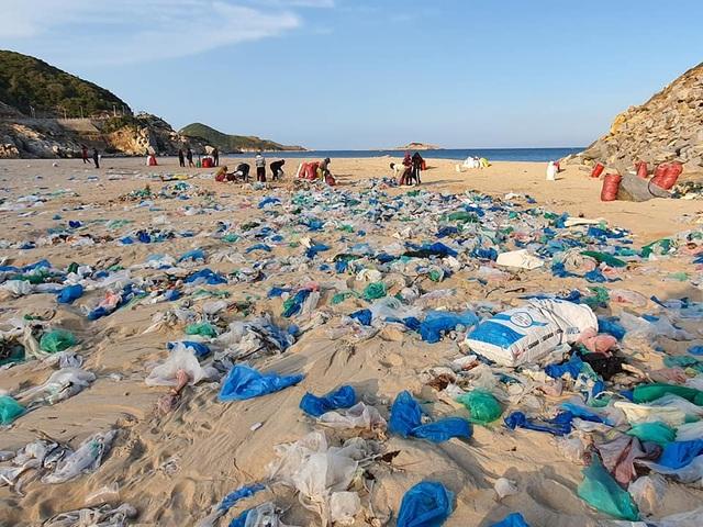 Hàng trăm người thu gom 30 tấn rác, giải cứu bãi biển xinh đẹp - 2