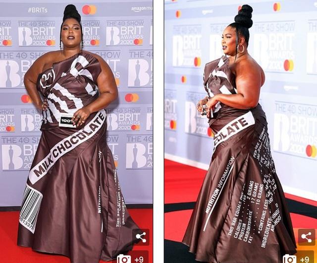Lizzo diện váy như vỏ kẹo socola - 4