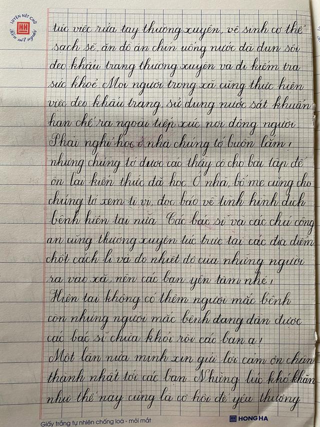 Xúc động những bức thư từ tâm dịch Sơn Lôi hồi âm học sinh Hà Nội - 4