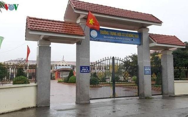 """Vụ Hiệu phó bị """"tố"""" bắt học sinh tự tát vào mặt: UBND huyện lên tiếng - 1"""