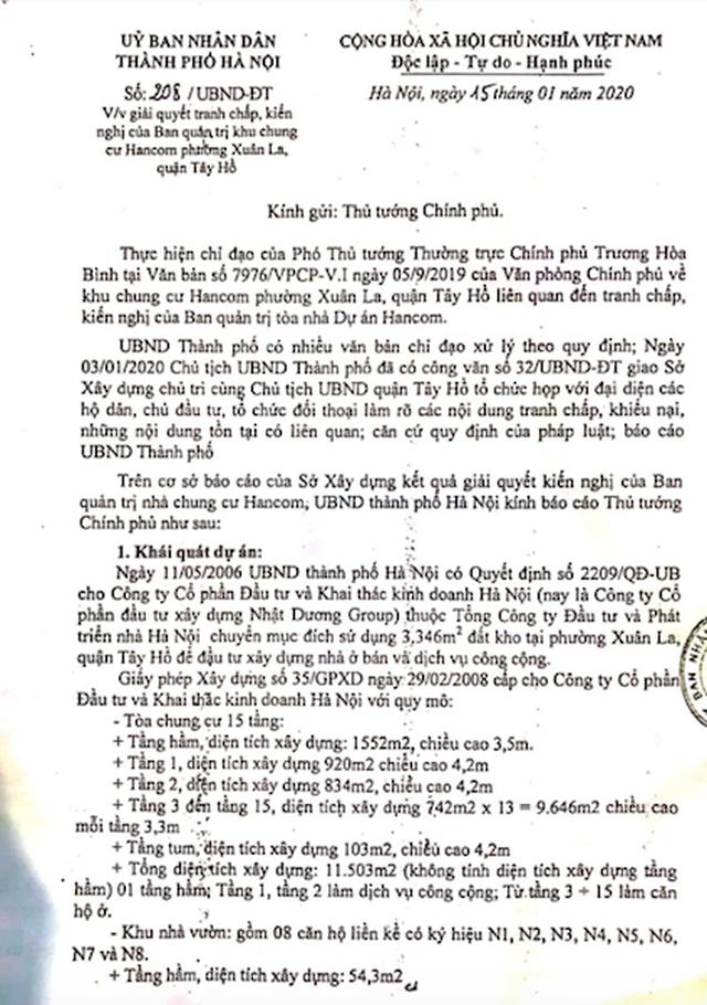 Hà Nội báo cáo Thủ tướng hàng loạt sai phạm nóng bỏng tại chung cư Hancom - 5