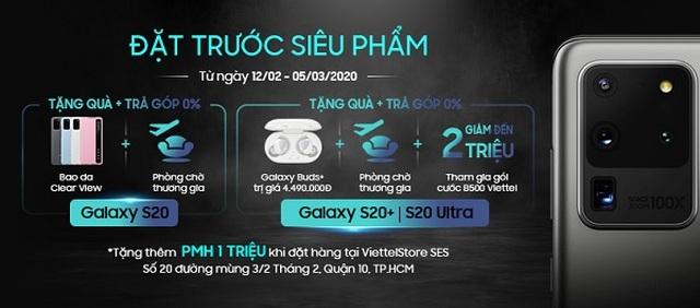 Đặt trước Samsung Galaxy S20 series tại Viettel Store nhận ngay ưu đãi lớn - 1