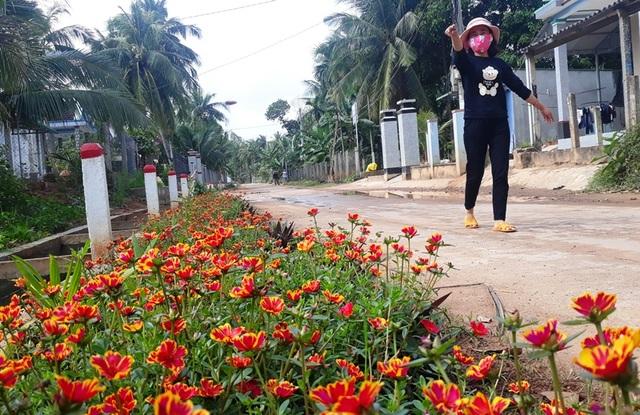 """Cả làng """"xin"""" hoa về trồng, đường quê Bình Định đẹp như tranh họa - 1"""
