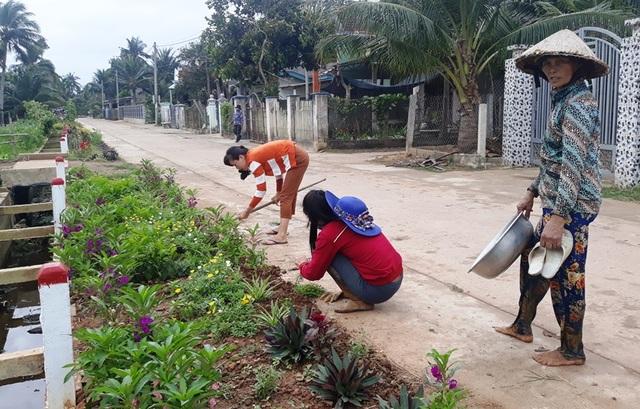 """Cả làng """"xin"""" hoa về trồng, đường quê Bình Định đẹp như tranh họa - 2"""
