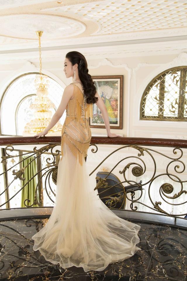 Anika Trinh Trinh diện váy pha lê xuyên thấu - 5