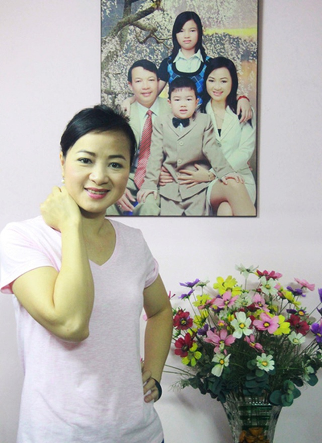 Linh Huệ đang có một gia đình hạnh phúc.