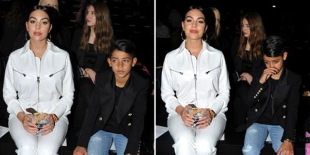 Bạn gái C.Ronaldo đẹp sang chảnh khi đưa con trai đi dự sự kiện - 1