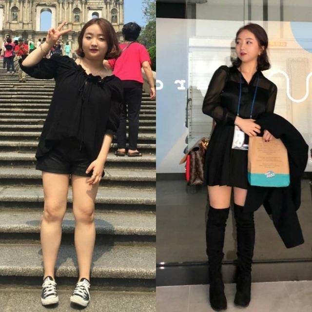 Cô gái Hàn bị bạn trai đá vì béo, giảm cân ngoạn mục xinh như thiên thần - 1
