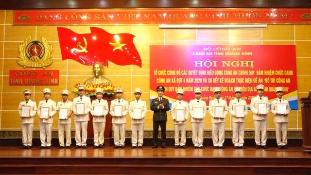 100% các xã tại Quảng Bình có công an chính quy - 1
