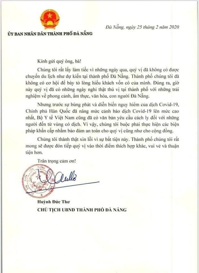 Chủ tịch Đà Nẵng lý giải về nơi cách ly 20 du khách Hàn Quốc - 2