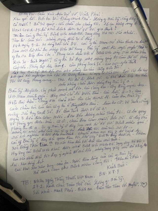 """""""Trọn ân tình"""" trong tâm thư gửi người thầy thuốc của bệnh nhân Covid-19 - 2"""